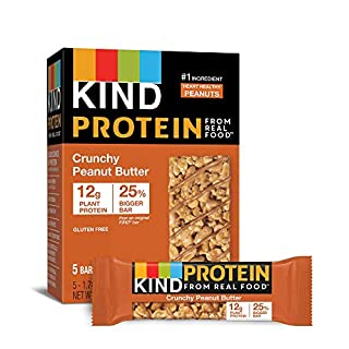 KIND Protein Bars, Crunchy Peanut Butter, Gluten Free, 12g Protein,1.76 Ounce, 20 count
