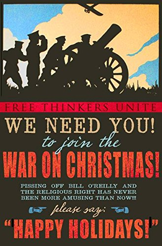 Wall Art Print entitled War On Christmas! by R Christopher Vest