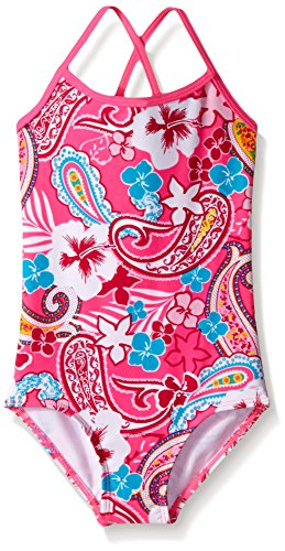 Kanu Surf Big Girls Summer Dream One Piece Swimsuit, Pink, 12