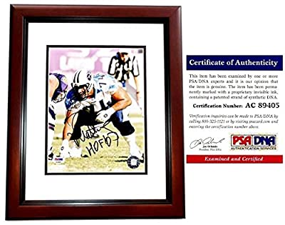 Bruce Matthews Autographed Tennessee Titans 8x10 Photo Mahogany Custom Frame - PSA/DNA Authentic