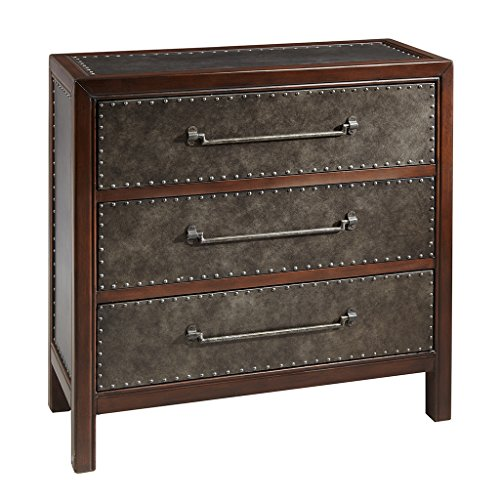 Madison Park Tracer 3 Drawer Chest Brown Multi/Walnut See Below ()