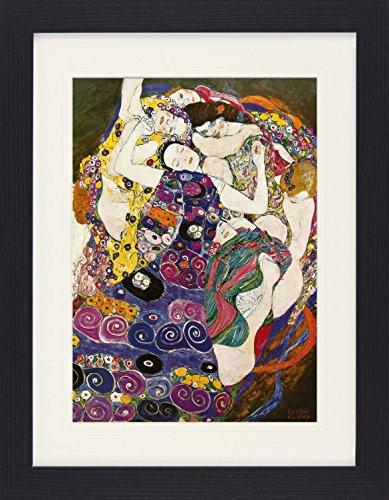 1art1 113808 Gustav Klimt - Die Jungfrau, 1912-1913 Gerahmtes Poster Für Fans Und Sammler 40 x 30 cm
