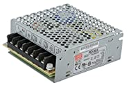 "Mean Well RD-50A-VP Enclosed Switching AC-to-DC Power Supply, Dual Output, 5V-12V, 54W, 1.4"" H x 3.8"" W x 3.9"" L"