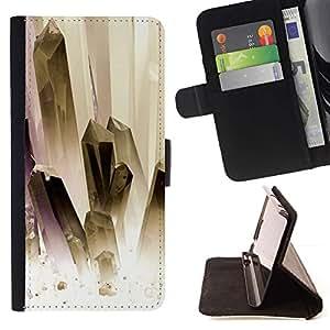 For Sony Xperia M4 Aqua Case , Pintura oro blanco Joyas Limpio- la tarjeta de Crédito Slots PU Funda de cuero Monedero caso cubierta de piel