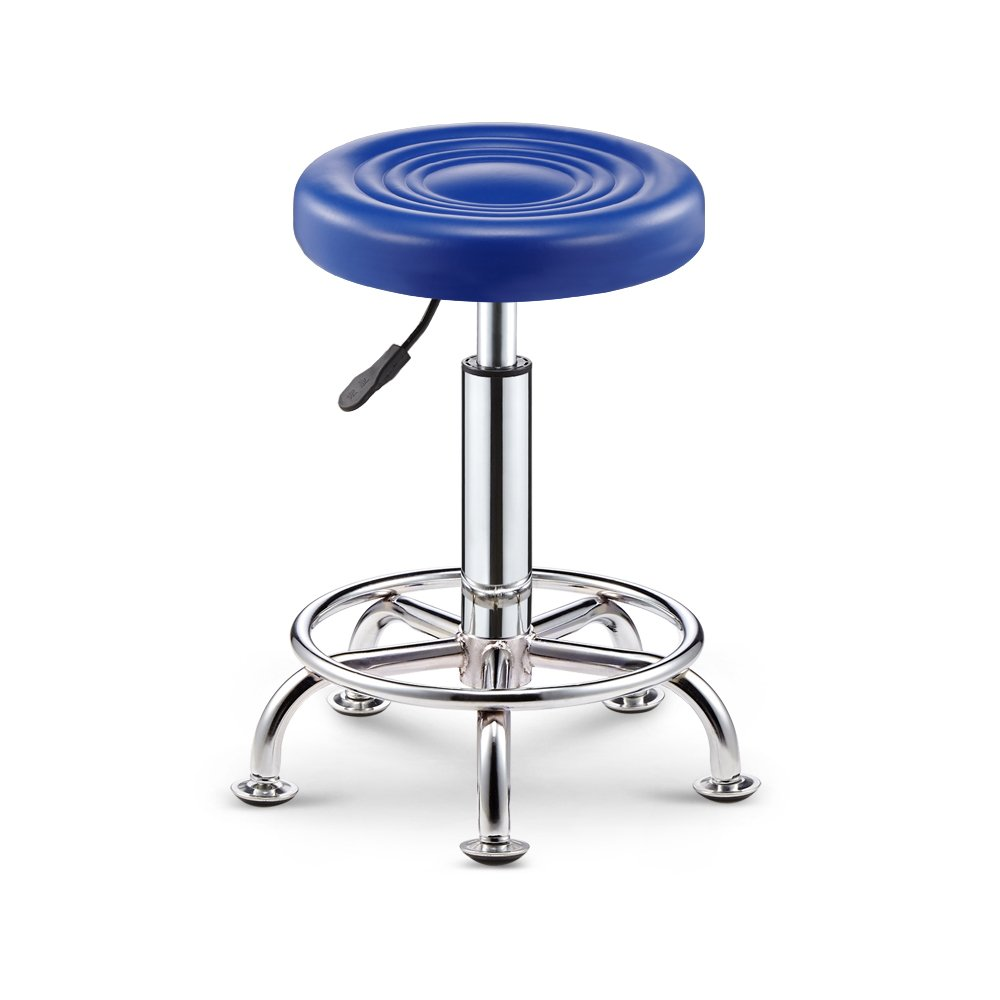 Simple Lattice Bar Chair Spa Salon Chair Massager Manicurist Stool -by TIANTA (Color : Blue)
