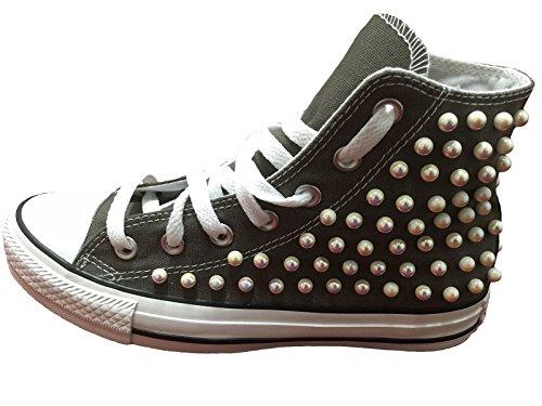 Stefano Natussi - Zapatillas de Lona para hombre Charcoal (grigio scuro)