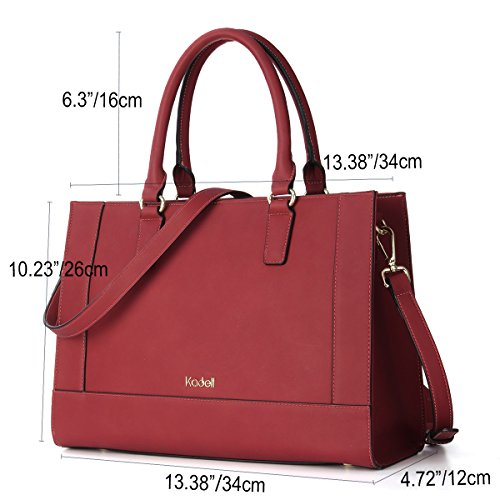 Women Fashion PU Handle Messenger Wine Top Tote Leather Large Red Kadell Handbags Shoulder Satchel Bags Eqzdqg