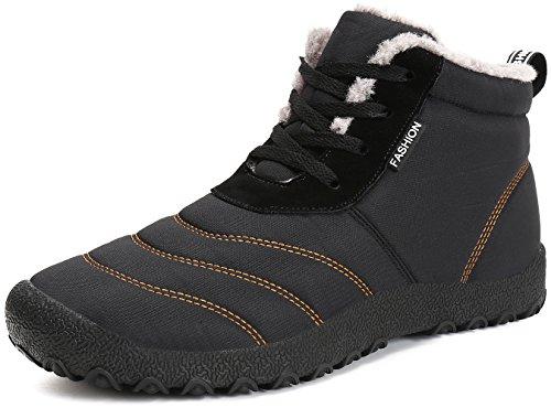 Outdoor slip Short Winter Saguaro Shoes Warm Snow Men Women Fur Faux Casual Boots Lace Up Anti Ankle Lined TT1ZH8wq