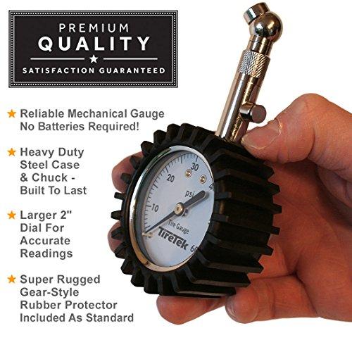 TireTek Premium Tire Pressure Gauge With Integrated Hold Valve - 60PSI by TireTek Precision Instruments (Image #3)