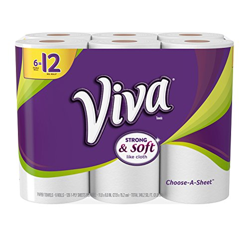 VIVA Choose-A-Sheet* Paper Towels, White  ,   Double Roll, 6 Rolls
