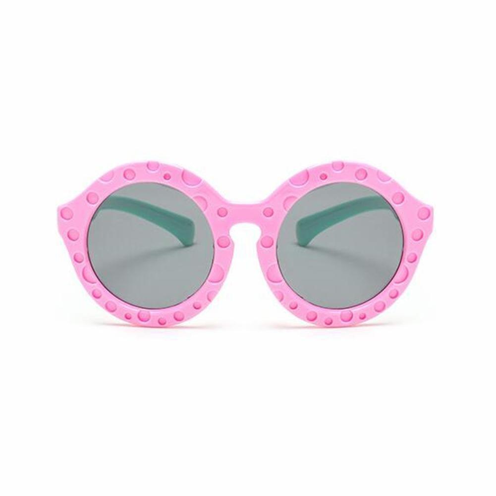 HJXJXJX Niños materiales de silicona circular gafas de sol gafas de sol al aire libre