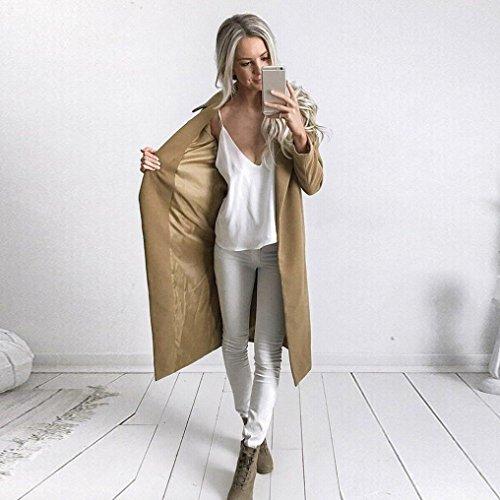 Aux Parka Malloom Hiver Outwear Pardessus Long cardigan femmes Manteau J Kaki Lapel caisse qUwFpHEnc