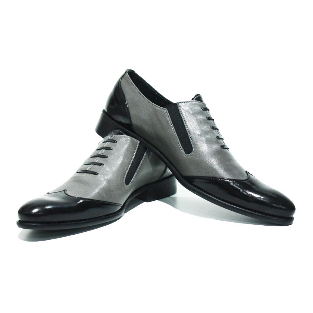 Modello Trevi - Cuero Italiano Hecho A Mano Hombre Piel Gris Mocasines y Slip-Ons Loafers - Cuero Cuero Suave - Ponerse: Amazon.es: Zapatos y complementos