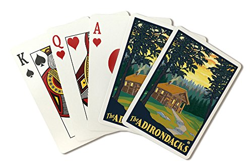 The Adirondacks - Cabin in the Woods (Playing Card Deck - 52 Card Poker Size with Jokers)