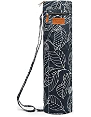 ELENTURE Full-Zip Exercise Yoga Mat Carry Bag with Multi-Functional Storage Pockets
