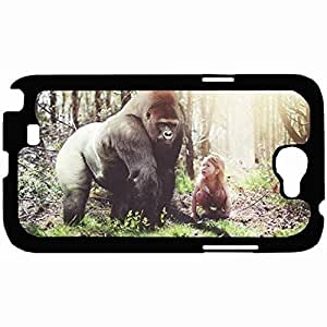 New Style Customized Back Cover Case For Samsung Galaxy Note 2 Hardshell Case, Back Cover Design Gorilla Personalized Unique Case For Samsung Note 2