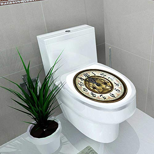 Toilet Seat Wall Stickers Paper Clock Throw Antique for sale  Delivered anywhere in USA