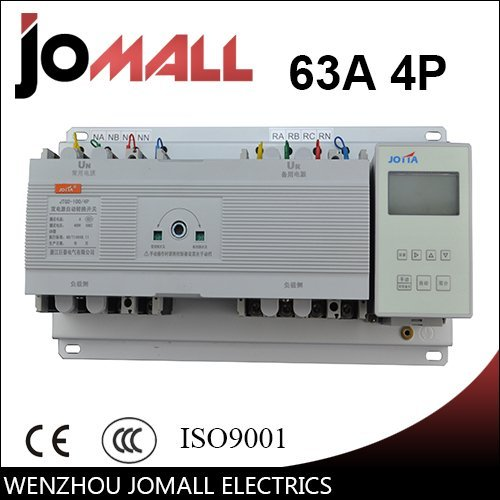 New type 63A 4 poles 3 phase automatic transfer switch ats with English ()