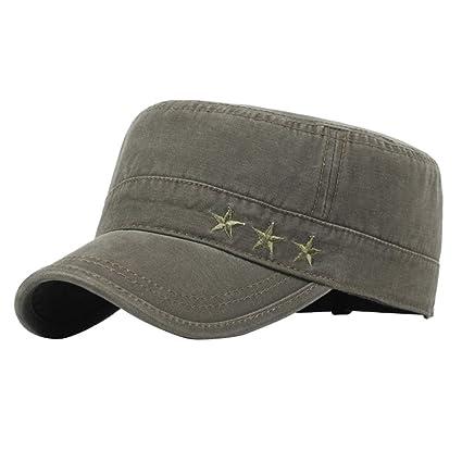 iTemer 1 Pieza Moda Retro Gorra Militar Unisex Casquillo Ocasional del Sombrero Casquillo Que Sube al