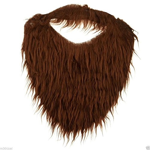 [Jacobson Hat Company Men's Beard with Elastic, Brown, One Size] (Costumes With Beards)