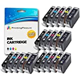 20 (4 SETS) Compatible PGI-5 CLI-8 Ink Cartridges for Canon Pixma MP500 MP530 MP600 MP600R MP610 MP800 MP800R MP810 MP830 MP950 MP960 MP970 iP4200 iP4300 iP4500 iP5100 iP5200 iP5200R iP5300 - Black/Photo Black/Cyan/Magenta/Yellow, High Capacity