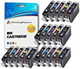 20 (4 SETS) Compatible PGI-5 CLI-8 Ink Cartridges for Canon Pixma MP500 MP530 MP600 MP600R MP610 MP800 MP800R MP810 MP830 MP950 MP960 MP970 iP4200 iP4300 iP4500 iP5200 iP5200R iP5300 - High Capacity