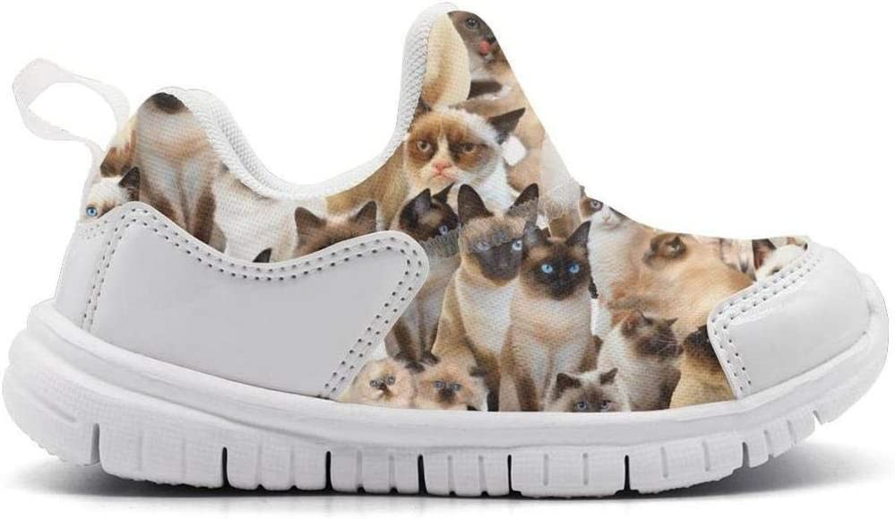 ONEYUAN Children Siamese cat Breed Kid Casual Lightweight Sport Shoes Sneakers Walking Athletic Shoes