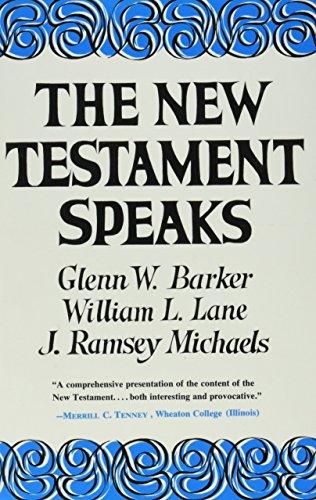Books : The New Testament Speaks