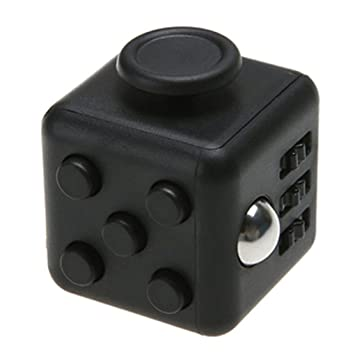 Enticing Fidget Cube 6 Sides Relieves Stress Ball Black Anti Anxiety And Depression
