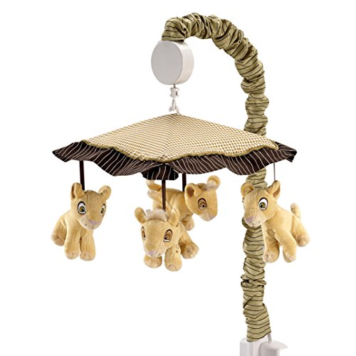(Disney Lion King Simba's Wild Adventure Musical Mobile, Ivory, Brown, Sage, Tan)