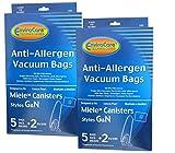 2 Pkgs Miele Style G/N Plasatic Collar Allergen Canister Vacuum Bag