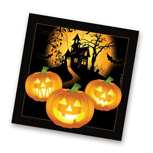Halloween Haunted House Bulk Pack 80 Ct Paper Napkins – Beverage
