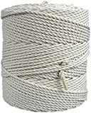 Macrame cord 4mm natural cotton cord 853 feet macrame rope 284 yd. cotton rope (4mm x 260m (about 284 yd.))