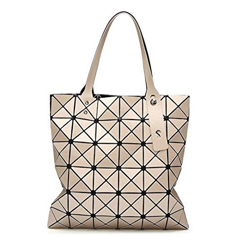 Gold Handbags Matte - Fashion Diamond Women Bao Bags Geometry Matte Baobao Handbag Female Geometric Casual Tote Lady Shoulder Top-Handle Bag Gold