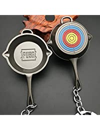 Game Playerunknown's Battlegrounds Surrounding Weapons Level 3 Saucepan Pan Keychain Alloy Cosplay Props Merch