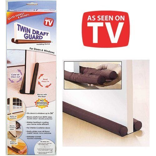 Twin Draft Guard - Energy Saving Under Door Draft Stopper