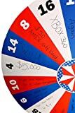 Displays2go Free-Standing Cardboard Prize Wheel with 18 Numbered Sections, Blue/Red/White