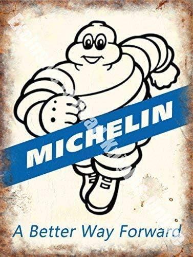 A Better Way Forward 9 x 6.5 cm RKO Michelin 171 M/étal//Acier Panneau Mural Magnet Pneus Vintage Garage Voiture Course Caoutchouc Man