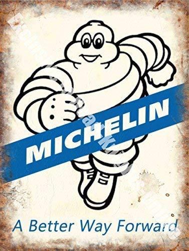 Michelin 171 , A BETTER Via DELANTERO, neumáticos llantas, Clásico Coches GARAJE, funcionamiento GOMA Man, METAL / CARTEL para pared de acero - 9 x ...