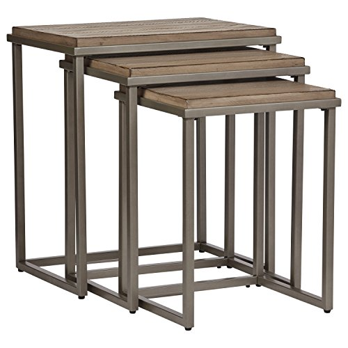 - Stone & Beam Gazelle Rustic Metal Nesting Tables, 22
