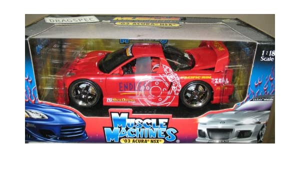 Amazon.com: Muscle Machines - 03 Acura NSX - Red [Scale 1 ...