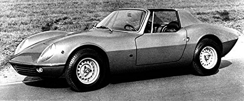 1967 ASA Roll Bar Concept Factory Photo - Ferrari Bar