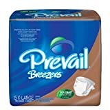 Prevail Breezers Ultimate Absorbency Incontinence Briefs, Extra Large, 15-Count