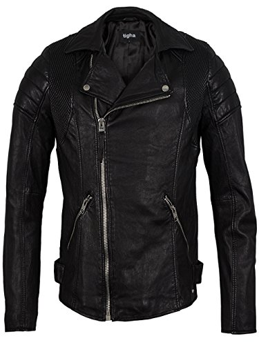 TIGHA Herren Lederjacke Vintage Black GARY Neue Kollektion L