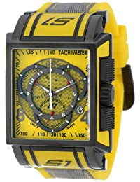 Invicta Men's 11695 S1 Chronograph Yellow Dial Yellow Polyurethane and Grey Nylon Watch