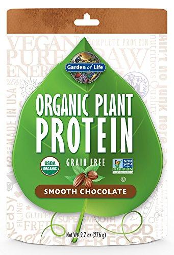 Garden of Life Organic Protein Powder - Vegan Plant-Based Protein Powder, Chocolate, 9.7oz (276g) Powder Chocolate Smooth Pouch