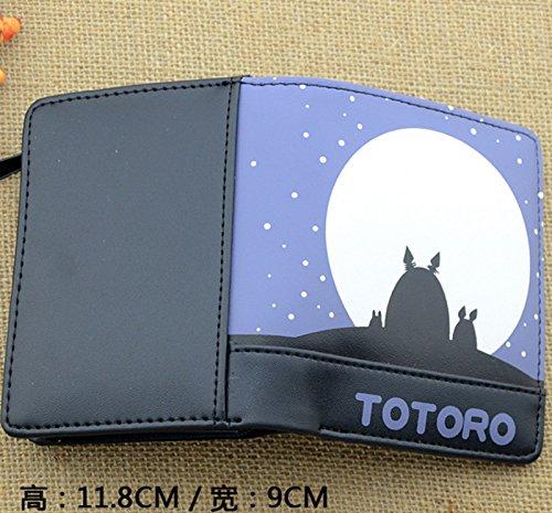 new Cuero Piel Cartera Multi-bolsillos Cartera hombre Purse luz de la luna Conejitos Totoro rare