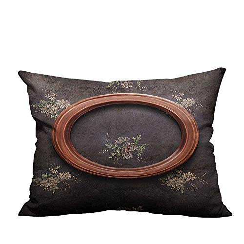 YouXianHome Sofa Waist Cushion Cover Round Frame on Black Shabby Wallpaper Decorative for Kids Adults(Double-Sided Printing) 19.5x54 inch