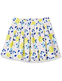 Girls Pleated Allover Floral Printed Skirt