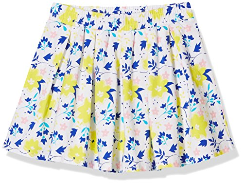 A for Awesome Girls Pleated Allover Floral Printed Skirt Small White Floral AOP ()